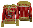 Forever Collectibles NFL Women's San Francisco 49ers Big Logo V-Neck Sweater $34.99 USD on eBay