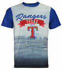 Forever Collectibles MLB Men's Texas Rangers Outfield Photo Tee on Ebay