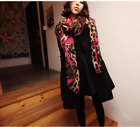 Womens Soft Long Neck Large Scarf Wrap Shawl Flower Voile Chiffon Stole Scarves