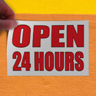 Decal Sticker Open 24 Hours Auto Body Shop Car Repair Style U Store Sign White