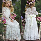 Kyпить Lace Flower Girl Dress Maxi Long Formal Ball Gown for Kids Wedding Bridesmaid на еВаy.соm