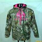 REALTREE Camouflage Polyester Jacket Girls Size L Brown zippered Youth hooded