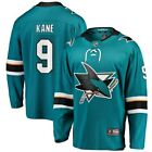 Fanatics Branded Evander Kane San Jose Sharks Youth Teal Breakaway Player Jersey