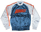 NBA Basketball Women's Juniors Charlotte Bobcats Satin Zip Up Jacket, Navy/White