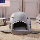 Pet Dog Cat Warm Bed Cute Shark Mouth House Puppy Kennel Basket Cushion Mat OCCA