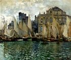 THE MUSEUM AT LE HAVRE HARBOUR SAILBOATS 1873 PAINTING BY CLAUDE MONET REPRO