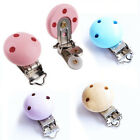 Внешний вид - 5pcs Baby Pacifier Clip Safety Wooden Teeth Accessories Soother Clasp Holder Lot