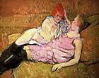 The Sofa by French Henri de Toulouse-Lautrec. Fine Art Repro on Canvas or Paper