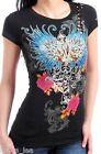 Black Wings/Rose/Cherub Victory Cap Sleeve Tee S/M/L/XL $16.09 USD on eBay