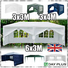 PE Gazebo 3M 4M 6M 130g Marquee Party Tent Canopy Metal Frame With Panels Sides