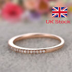 925 Sterling Silver Gold Cubic Zirconia Midi Ring Toe Knuckle Top Finger Gift Uk