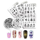 NICOLE DIARY Nail Stamping Plates Geometry French Lace  Image Template