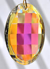 "50mm Asfour Matrix Oval Crystal Clear AB Prism SunCatcher 2"" Pendant"