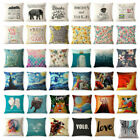"Art Animal Decorative Cotton Linen Throw Pillow Case Cushion Cover Sofa Car 18"" image"
