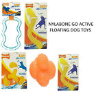 *NEW* NYLABONE GO ACTIVE RUBBER DOG PUPPY FLOATING TOYS FLYER TUG BALL STICK