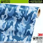LARGE COOL BLUE Camouflage Vinyl Vehicle Car Wrap Camo Film Sheet Roll Adhesive