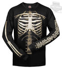 Harley-Davidson Mens Skeleton Bones Rib Cage Black Long Sleeve Biker T-Shirt