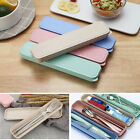 Reusable Portable Tableware Kit  Straw Cutlery Fork Chops Spoon Storage Box