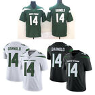 2019 Mens New York Jets 14 Sam Darnold Green White Black Jersey Size M 3XL
