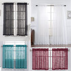 One Piece Beautiful Sheer Window Elegance Curtains-Drape-Panels-Treatment