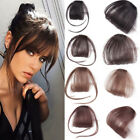Lady 3D Thin Air Bangs Fringe Clip In Natural Human Hair Extensions Hairpiece for sale  Shipping to South Africa