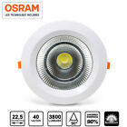 Foco Plafon LED Downlight redondo 40W 3800Lm COB empotrable techo 22,5cm blanco