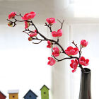 Artificial Fake Silk Flowers Cherry Plum Blossom Home Party Office Bedroom Decor