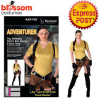 CA951 Adventurer Lara Croft Tomb Raider Womens Heroine Huntress Outfit Costume