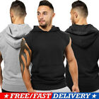USA Men Muscle Sleeveless Hoodie Tank Top Bodybuilding Gym Workout Vest T-Shirt image