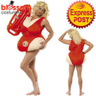 CA411 Baywatch Baby Lifeguard Mens Funny Costume Beach Fancy Dress Up Swimsuit