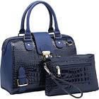 Dasein Structured Satchel with Matching Wristlet 6 Colors