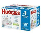 Huggies Baby Wipes Natural Care Tub Refills Disposable On-the-Go Packs
