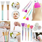 Silicone Face Brush for Facials Hairless Applicator Tools Rhinestone Handle