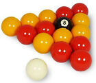 "REDS & YELLOWS 1 7/8"" (47.6mm) POOL BALLS £17.35 GBP on eBay"