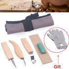 5Pcs Set Wood Carving Knife Chisel Woodworking Whittling Cutter Chip Hand Tool