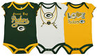Outerstuff NFL Infant Girls Green Bay Packers Assorted 3 Pack Creeper Set on eBay