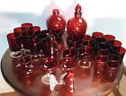 Vintage Ruby Red Depression Wheaton Glassware Many pieces Sold separately