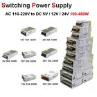 AC 110V-220V TO DC 12V 24V 5V Switch Power Supply Driver for LED Strip Light US