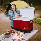 Steel Cooler Coleman Vintage Stainless Steel Camping Outdoor Ice Chest Quart NEW