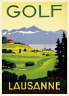GOLF CLUB LAUSANNE SWITZERLAND SPORT TRAVEL VINTAGE POSTER REPRO