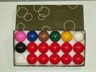 "1 7/8"" 17 BALL SNOOKER BALLS AVAILABLE WITH OR WITHOUT TRIANGLE £18.25 GBP on eBay"