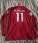 Mohamed Salah #11 Liverpool 2018/19 Home Red Long Sleeve Jersey