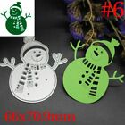 Snow Man DIY Crafts Embossing Stencil Cutting Dies Scrapbooking Cards Making