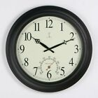 Chaney Balmoral Atomix Black 18 in. Wall Clock