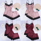 US Women Plus Size Pajamas Set Vest Shorts Babydoll Lingerie Nightwear Sleepwear