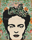 Frida Kahlo Flowers Collage Art Fabric Quilt Block Free Shipping World Wide (K8