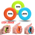 7cm Strength Finger Hand Grip Power Training Rubber Ring Exerciser Silicone US image