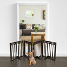"Solid Dog Pet Fence Wood Playpen Gate Barrier Free Standing Folding 24"" 36"" 60"""