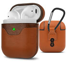 AirPods Premium Leather Case Protective Cover Skin for Airpods Charging Case