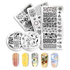 NICOLE DIARY Nail Stamping Plates Skull Geometry Flower Manicure Templates Tips